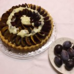 Pflaumenkuchen mit Vanillepudding