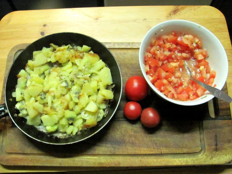 Bratkartoffeln mit Kiwi