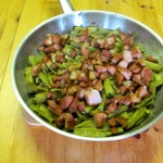 Grüne Bohnen mit Fleischwurst und Speck