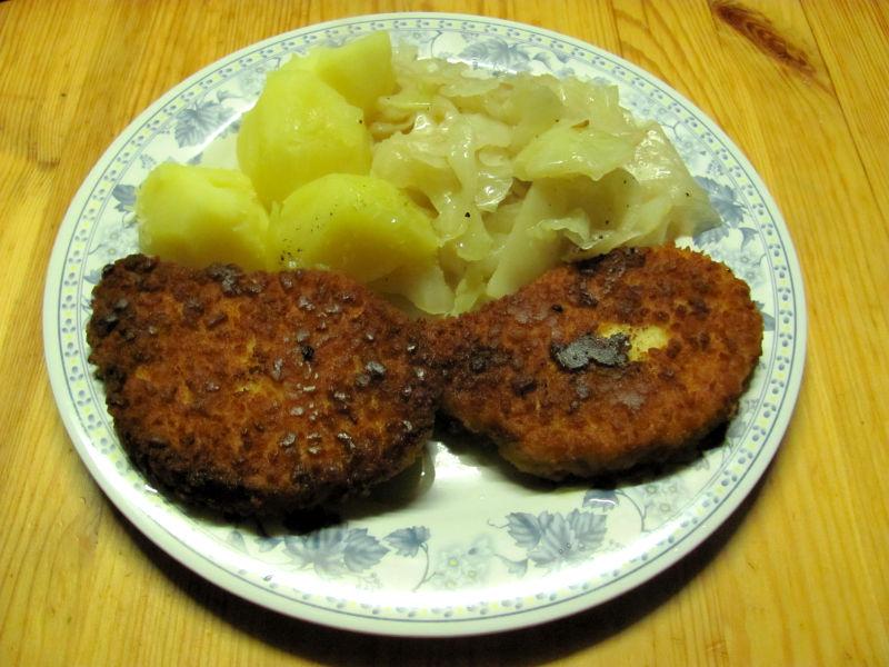Weißkohl und Kartoffeln