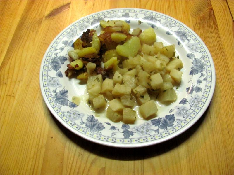 Selleriegemüse Bratkartoffeln