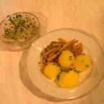 Butterbohnen mit Kartoffeln und Kresse